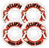 Rink Rat Wheels 76Mm 76A Eclipse 4-Pack White/Red Inline Indoor Hockey White-Red