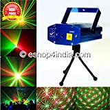 #1: Live Cosmetics Multi Pattern Sound Activated Laser MIni Disco Light Projector Stage Lighting For Party