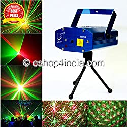 Multi Pattern Sound Activated Laser Mini Disco Light Projector Stage Lighting for Party