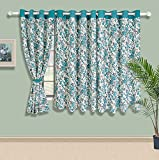 Swayam Printed Eyelit Window Curtain - T...