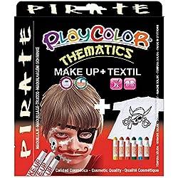 Maquillaje básico para pirata, unisex.