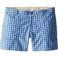 Columbia Silver Ridge III - Pantalones Cortos de Escalada para Hombre, Color Morado (Light Grape Plaid), Talla 2XL