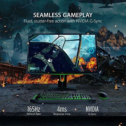 ViewSonic XG2703 GS 27 inch WQHD IPS Gaming Monitor having G Sync 165Hz 1440p DisplayPort HDMI sound system Black Green Products