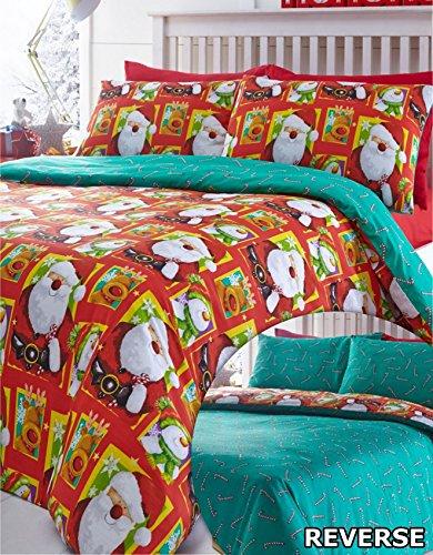 North pole christmas copripiumino e federa, colore: rosso, red, king