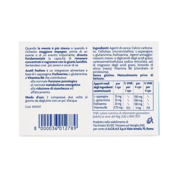 Acutil Fosforo Advance - 50 compresse da 250 mg, Totale: 12.50 g 5 spesavip