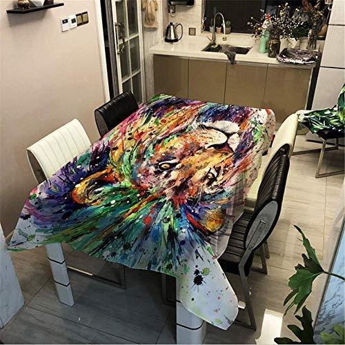 SONGHJ Polyester Baumwolle Gedruckte Tier Tischdecke Küche zu Hause wasserdichte Tischdecke Festliche Halloween Dekoration Tischdecke C 60x60cm / 24x24in