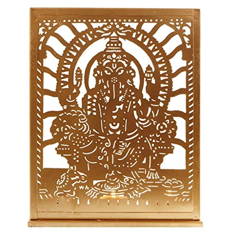 THE YELLOW DOOR Signore Ganesh Golden T-titolare di luce