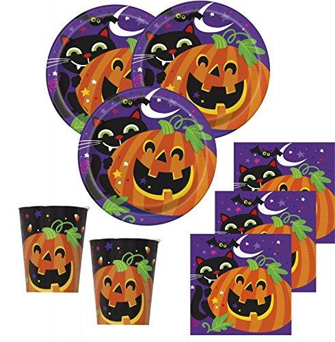 Kids Party World 48 Teile Halloween Deko Set Fröhliches Halloween 16 Personen