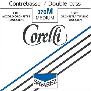 Corde Corelli per contrabbasso Set orchestra 'Strong' '4/4 e 3/4;Re tungsteno;' '4/4 e 3/4;Re tungsteno;'