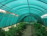 Unique Plastic Agro Shade Net with Gripping Clip (Green)