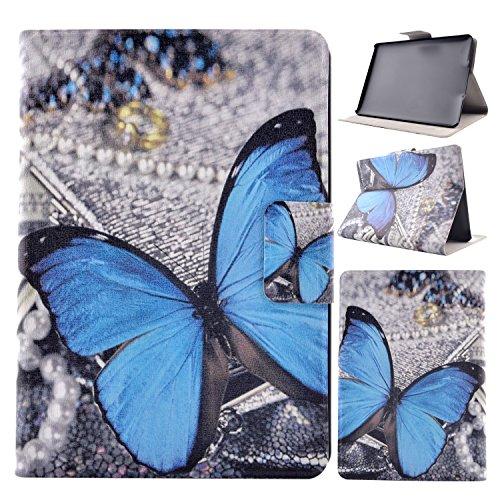Kindle Paperwhite Leather Funda, Baokai Flip Stand PU cubierta de cuero de la caja para Amazon Kindle Paperwhite 6 inch de pintura colorida Hard Innere cubierta protectora de la piel Tablet - Azul mariposa
