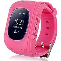Jslai Smart Watch Enfants Montre Connectées GPS Locator Tracker Téléphone Anti-Perte SOS Poignet Bracelet pour iOS…