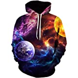 Mens Hoodie Pullover Long Sleeve Loose and Comfortable 3D HD Printing Hoody Streetwear Spring, Autumn and Winter New Outdoor