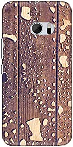 The Racoon Grip printed designer hard back mobile phone case cover for HTC 10. (water wood)