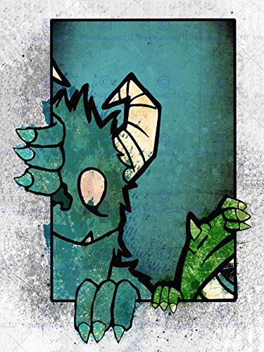 sters Inc Drawing Picture Art Canvas Print (Blue Monster Aus Monsters Inc)