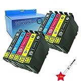 Caidi 10x Cartouches d'encre Compatible pour Epson 29 XL pour Epson Expression Home XP-255 XP-257 XP-352 XP-355 XP-452 XP-455 XP-235 XP-332 XP-335 XP-432 XP-435 XP-342 XP-245 XP-442 XP-345 Imprimante