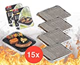 TK Gruppe Timo Klingler 15x Einweggrill Einmalgrill Campinggrill Holzgrill Grill aus Aluminium zu Grillen Aluschale mit Kohle Holzkohle Picknickgrill Holzkohlegrill Grillkohle