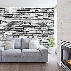 Idea Regalo - murimage Carta Parati Pietra 3D 274 x 254 cm Rustico fotomurali Bagno Wallpaper Mattone Soggiorno Include Colla