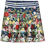 Yumi Girl's Italian Floral Stripe (Navy) Skirt, Blue (Navy), 9-10 Years