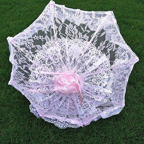 bpblgf H Hochzeit Sonnenschirm mit Spitze Lady Kostüm Zubehör Foto Prop B, A, 36* 72cm (Regen Beweis Kostüm)