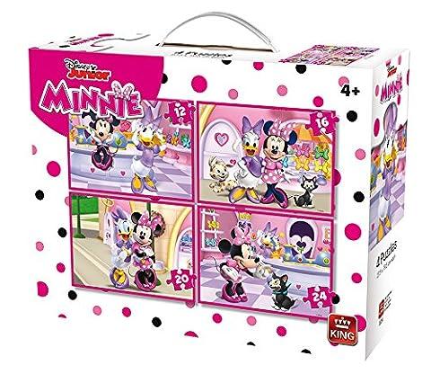 Puzzle 12 pièces - 4 Puzzles - Minnie