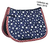 HKM_Saddle cloth -Stars-, Bibi & Tina - Pony dressage - Jeans Blue