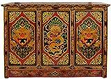 Exotic India zce56tibetano budista tamaño grande armario de madera con las cifras de dragón & Yamantaka
