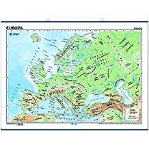 póster europa físico / político