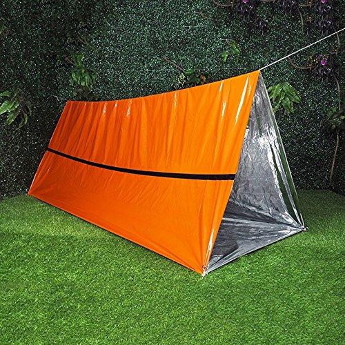 Leaftree Notfall Camping Zelt, leichte Faltung Winddicht feuchtigkeitsbeständiges Zelt Camping Tuch Zeltplane für Picknick/Camping/Wandern