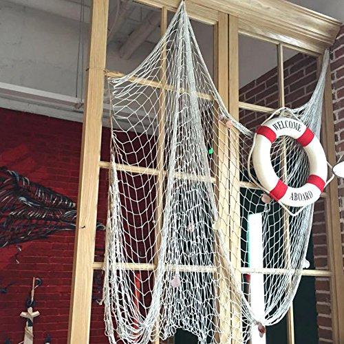 200 150cm rete da pesca decorativa con conchiglie stile - Rete da pesca per decorazioni ...