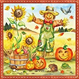 ambiente Servilletas Almuerzo/Fiesta/aprox. 33x 33cm Halloween Espantapájaros–Espantapájaros