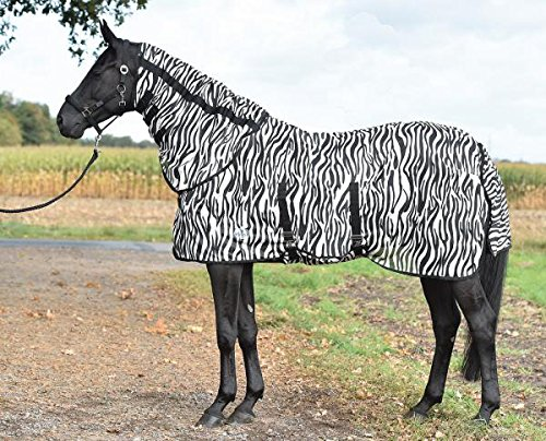 Busse Paddock-Fliegendecke Zebra, mit Bauchlatz, 145, Zebra