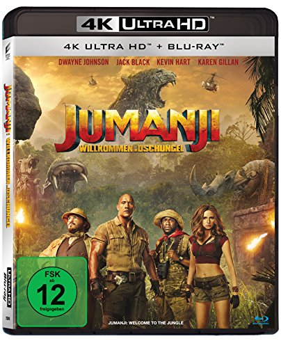 Jumanji: Willkommen im Dschungel (4K Ultra HD) [Blu-ray] Black Hd-dvd
