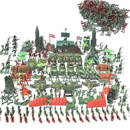 Navigatee toy soldiers sets 519pcs - kit soldatini militari, carri armati, aerei, elicotteri, figure di simulazione di campi di battaglia, giocattoli per bambini, 519pcs