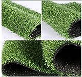 Mitefu three-toned erba artificiale 2cm lama altezza naturale per prato paesaggio finta erba artificiale TURF anti-usura piastrelle diverse applicazioni , 120 x 150 cm