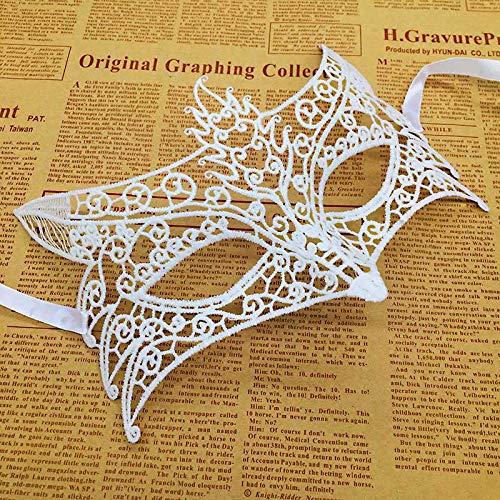 Kostüm Ball Masquerade Christmas - MASKUOY Halloween-Maske White Lace Masquerade Mask Damenmaske Für Halloween Kostüm Party Ball, Mardi Gras Oder Prom Dress Von
