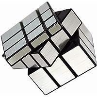 Vdealen Miroir Cube Magique en Argent Base Noir Puzzle Brain Teaser