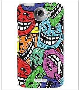 PRINTSWAG SMILEYS Designer Back Cover Case for HTC ONE X
