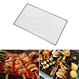 SUPEWOLD barbecue antiaderente grill mesh net, rete in acciaio INOX rete metallica da campeggio, resistente al calore, riutilizzabile per barbecue all' aperto picnic