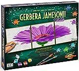 Noris Spiele Schipper 609400683 - Malen nach Zahlen - Gerbera Jamesonii - Triptychon, 40 x 40 cm, violet