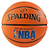 SPALDING - NBA LOGOMAN SGT SZ.7 (83-192Z) - Ballons de basket NBA - Touché et Contrôle améliorés - Matière Durable - orange...