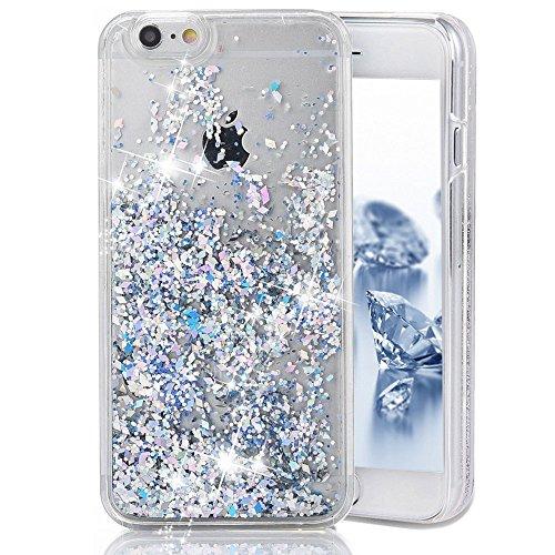Custodia-iPhone-6-iPhone-6S-Cover-iPhone-6-Custodia-Trasparente-JAWSEU-Lusso-Diamante-Scintillio-Bling-Dura-di-Plastica-Hard-Cover-Custodia-per-iPhone-66S-Coperture-Protectiva-Bumper-Liquido-di-Flusso