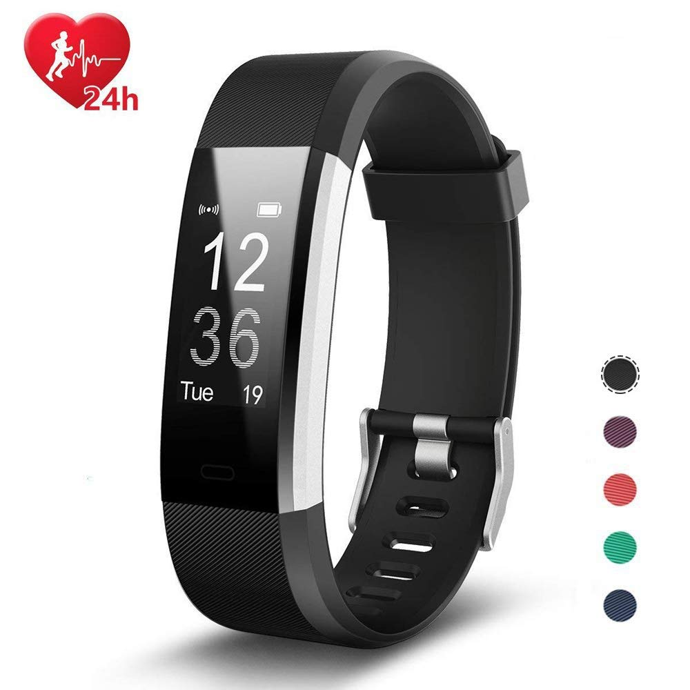 Fitness Tracker, Smart watch with Heart Rate, Sleep Monitor, Connected GPS  function, Smartband Sport Wristband Pedometer Activity Tracker Calorie