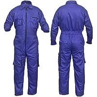 NORMAN Royal Blue Work Wear Men's Overalls Boiler Suit Coveralls Mechanics Boilersuit Protective