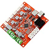 MagiDeal Anet V1.0 Controller Board Hauptplatine Ramps 1.4 Version 4CH für 3D-Printer -Rot