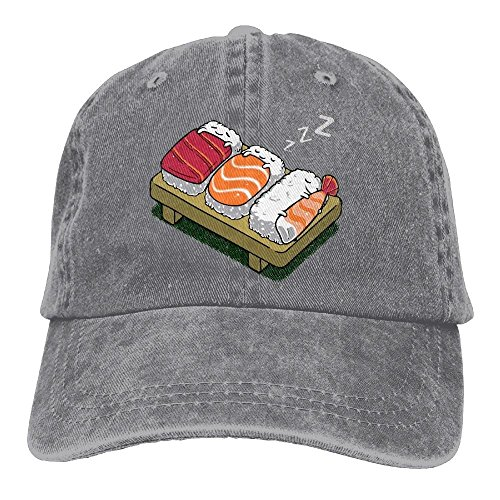 Women Sleeping Sushi Vintage Jeans Baseball Cap (Einfach Sushi Kostüm)