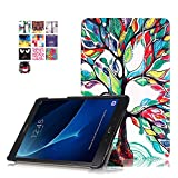 Skytar Cover per Galaxy Tab A6 Tablet,Folio Case Cover Stand Copertina in PU Pelle Custodia per Samsung Galaxy Tab A 10.1 (2016) SM-T580N / T585N Tablet (Albero di Fortuna)