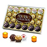 #3: Ferrero Collection - Assorted Chocolates - 24 Pieces - Combined with 2 Natural Yellow LED DIYA