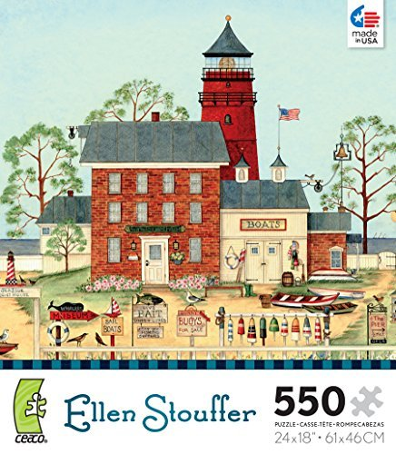 550-piece-ceaco-jigsaw-puzzle-ellen-stouffer-the-lighthouse-by-ceaco