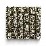 LIKEDA 24 Piezas De Accesorios De Barba Vikinga, 304 Perlas De Acero Inoxidable para El Collar De Los Hombres Pulsera Colgante De Joyería,A
